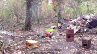 15 hajléktalan kunyhóját semmisítették meg a Köki melletti kiserdőben