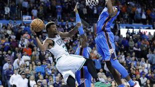 Őrült hajrával lökte gödörbe a Celtics a Thundert