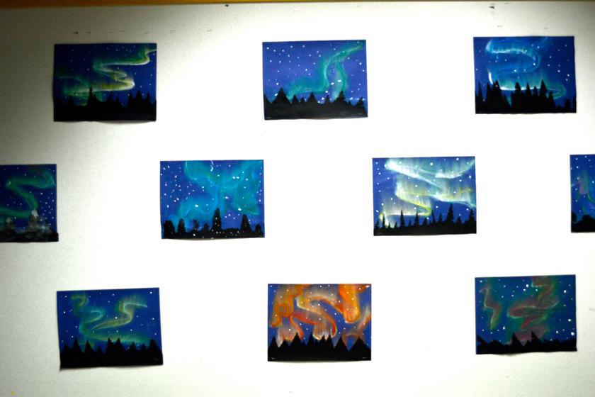 sarki fény gyerek rajz pasztell 6