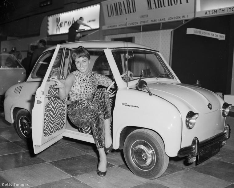 A vad minták párosítása nem újkeletű dolog, lásd ezt az 1956-ban készült fotót Jackie Collins modellről, akit a Goggomobil T300 kárpitjához ötlöztettek.