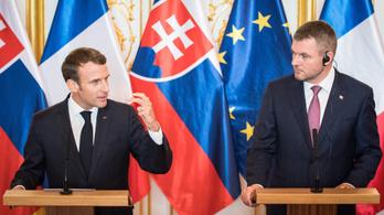 Macron a CEU-ról is beszélt Pozsonyban