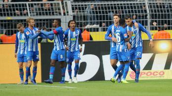 A Hertha 91. perces büntetővel mentett a Dortmund ellen