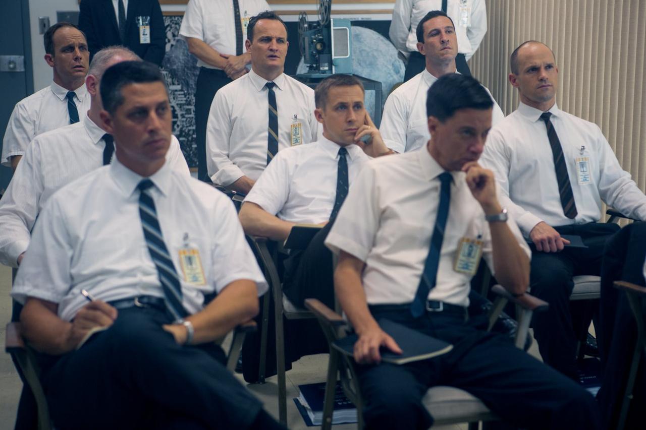 Képkocka a filmből: fess Gemini űrhajósok elméleti képzés közben.