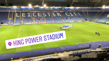 Az utolsó felvételek a Leicester-helikopterről
