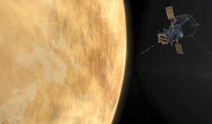A Parker Solar Probe a Vénusz előtt