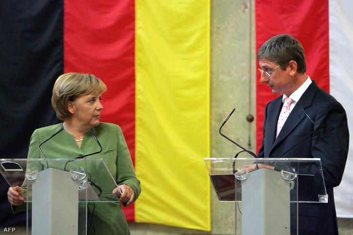 Angela Merkel és Gyurcsány Ferenc 2007-ben