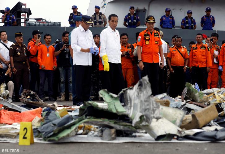 A Lion Air JT610 tengerből előkerült roncsai