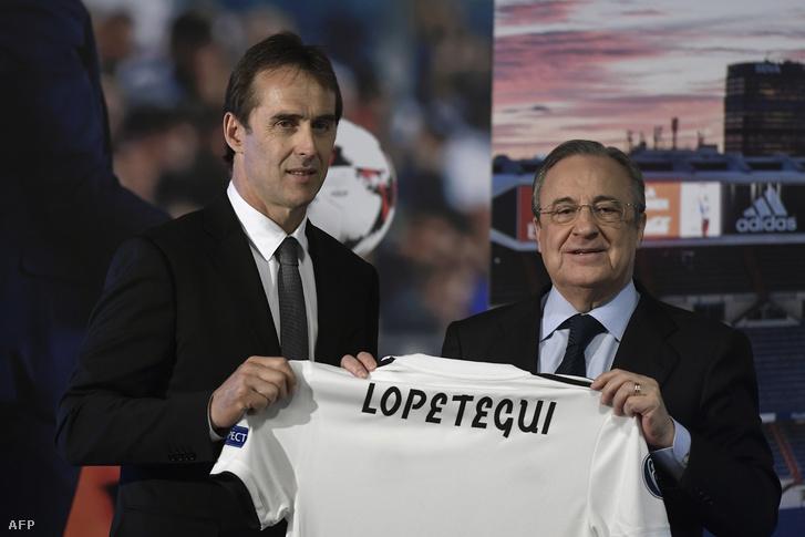 Lopetegui és Perez a Real-edző madridi bemutatásán, júniusban