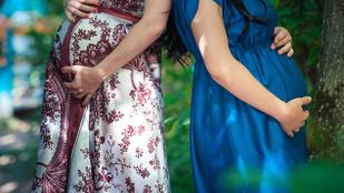 Együtt hordta ki a közös gyermekét egy leszbikus pár