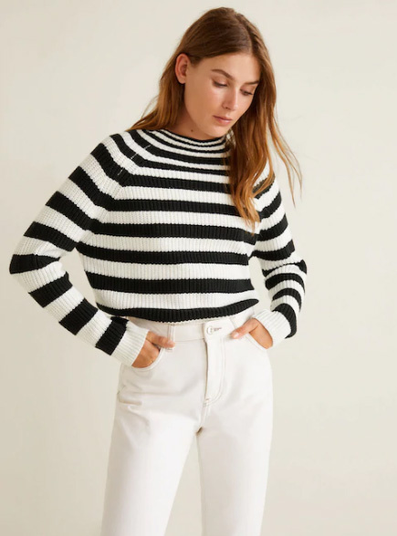 11173e36b0 A franciás sikk kedvelőinek remek választás lehet ez a divatos,  fekete-fehér, csíkos