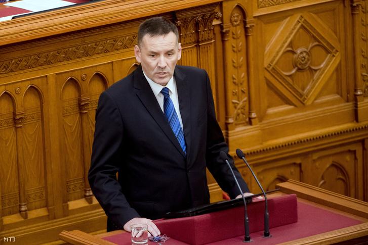 Volner János az Országgyűlés plenáris ülésén 2018. június 27-én.