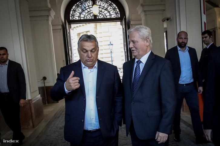 Orbán Viktor miniszterelnök és Tarlós István főpolgármester találkozója a Főpolgármesteri Hivatalban 2018. október 10-én.