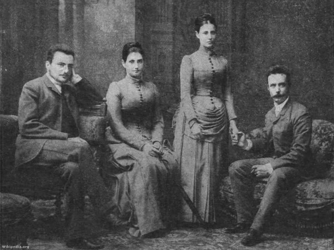 Gróf Tisza István, Tisza Ilona, Tisza Jolán, Bethlen Pál 1904