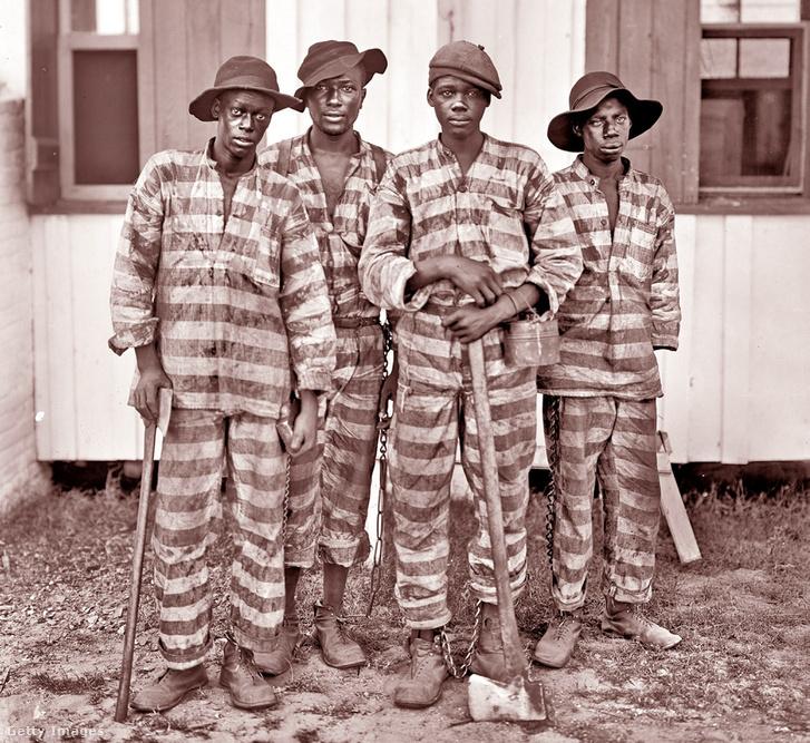 Kényszermunkára ítélt rabok az USA-ban 1905 körül