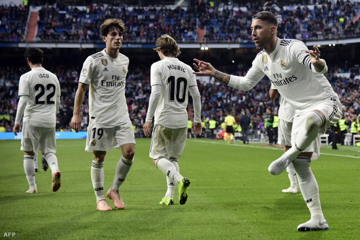 Sergio Ramos ünnepli 11-esből szerzett gólját