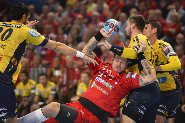 A veszprémi Andreas Nilsson (k), valamint a német Andre Schmid (j), Jannik Kohlbacher (j2) és Ilija Abutovic