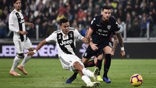 A Juventus 43 mp után már vezetett, majd 3-1-re nyert