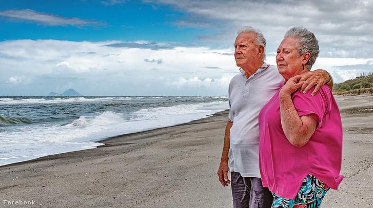 Gus Hutt a hős halász és felesége Matata Beachen