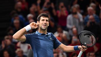 Djokovic az év végi világelső, tenisztörténelmet írva