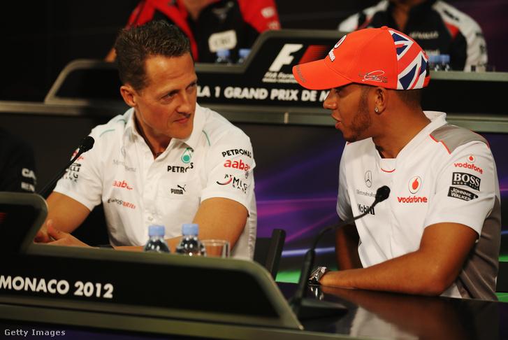 Schumacher és Hamilton 2012-ben