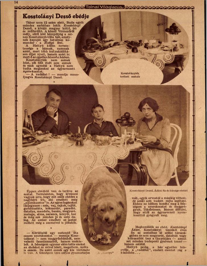 A válogatáskötetben idézett cikk, ritkán látott képekkel a Tolnai Világlapja 1927-es számából. Forrás: Arcanum adatbázis