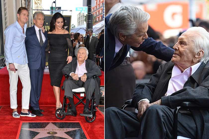 Meghatóak ezek a felvételek a 101 éves Kirk Douglas-ről és a família fiatalabb tagjairól.