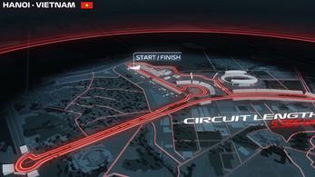 1,5 kilométeres görbe egyenes a vietnami F1-pályán