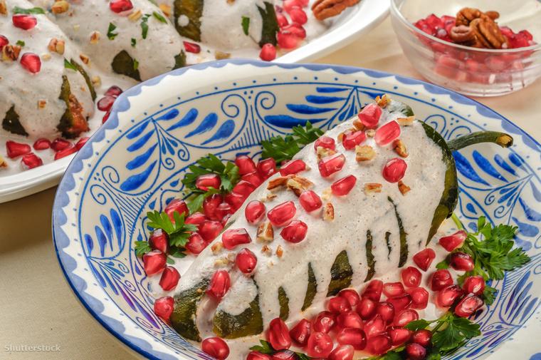 A Chiles en Nogada nevű étel a függetlenség napján kerül a mexikóiak asztalára
