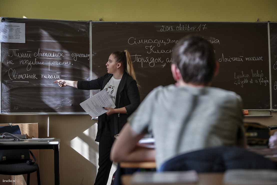 Magyar nyelven tanítanak ukrán nyelvet a beregszászi Kossuth Lajos általános és középiskolában