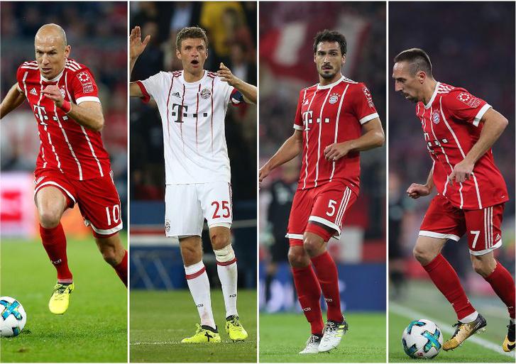 Robben, Müller, Hummels, Ribery