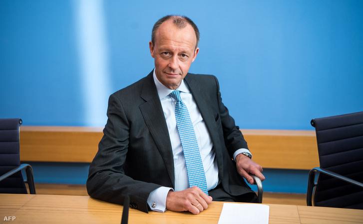Friedrich Merz berlini sajtótájékoztatón 2018. október 31-én