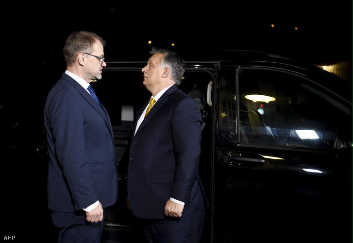 Juha Sipila és Orbán Viktor 2018. november 7-én Helsinkiben.