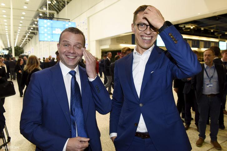 Petteri Orpo és Alexander Stubb az Európai Néppárt (EPP) kétnapos kongresszusán 2018. november 7-én Helsinkiben.