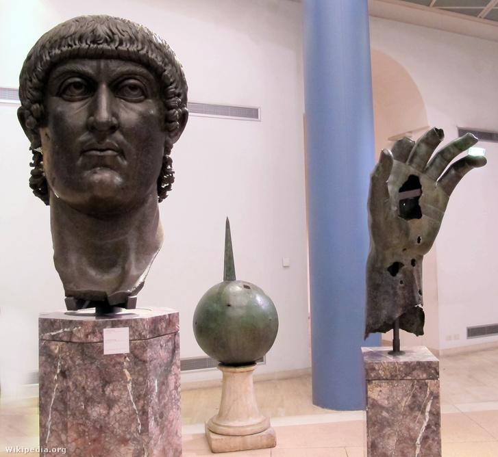 Pezzi bronzei di statua colossale di costantino, 330-37 ca. 01
