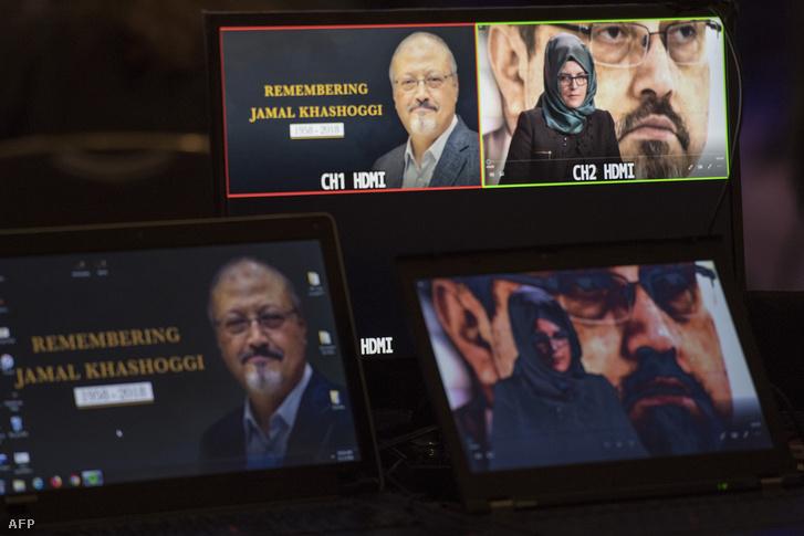 Dzsamal Hasogdzsi menyasszonya is megszólalt a meggyilkolt újságíró tiszteletére tartott megemlékezésen 2018. október 2-án, Washingtonban
