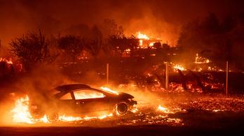 A kaliforniai tűzvész elpusztított egy várost, 9 halott