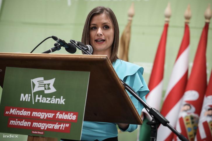 Dúró Dóra a Mi Hazánk Mozgalom elnökhelyettese