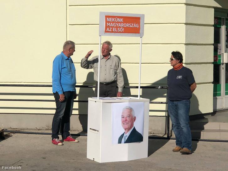 Szentirmai István kampányol