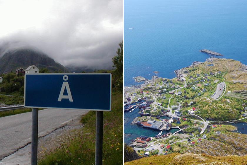 Az észak-norvég Å község a Lofoten-szigetcsoporthoz tartozik. A falu neve az ónorvég eredetű Aa-ból származik, ami kis folyót jelent. A nyelvi reformok miatt kapta az egybetűs formát végül.