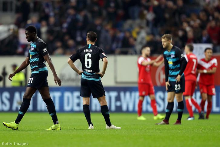 Nem voltak boldogok a Hertha játékosai a meccs végén