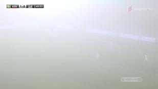 A köd tette emlékezetessé a Kisvárda-Újpest találkozót