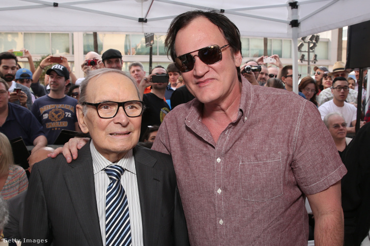 Ennio Morricone és Quentin Tarantino 2016. február 26-án, Hollywoodban