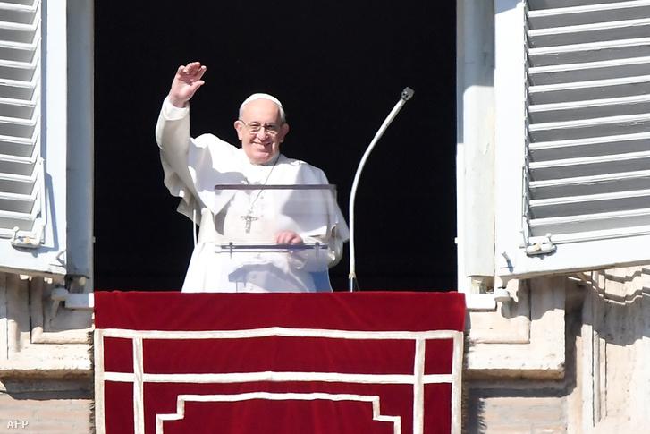 Ferenc pápa 2018. november 11-én.