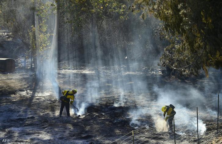 A Kalifornia északi és déli részén pusztító három nagyobb tűzvész oltásában nyolcezernél több tűzoltó vesz részt