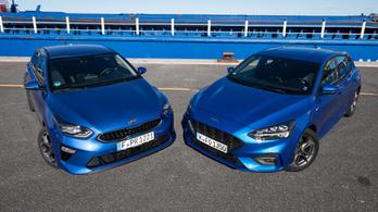 Összehasonlító teszt: Ford Focus 1.5 Ecoboost (182 LE) – Kia Ceed 1.4 T-GDI (140 LE) – 2018.