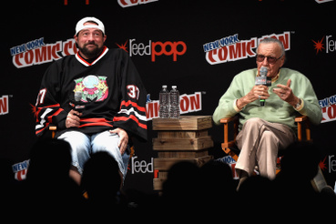 Kevin Smith és Stan Lee a Madison Square Gardenben 2016. október 7-én