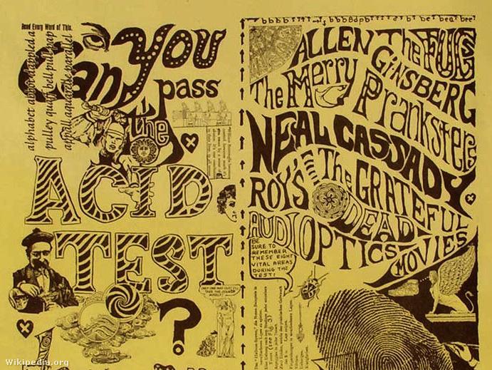 Can you pass the Acid Test? Poszter 1965-ből