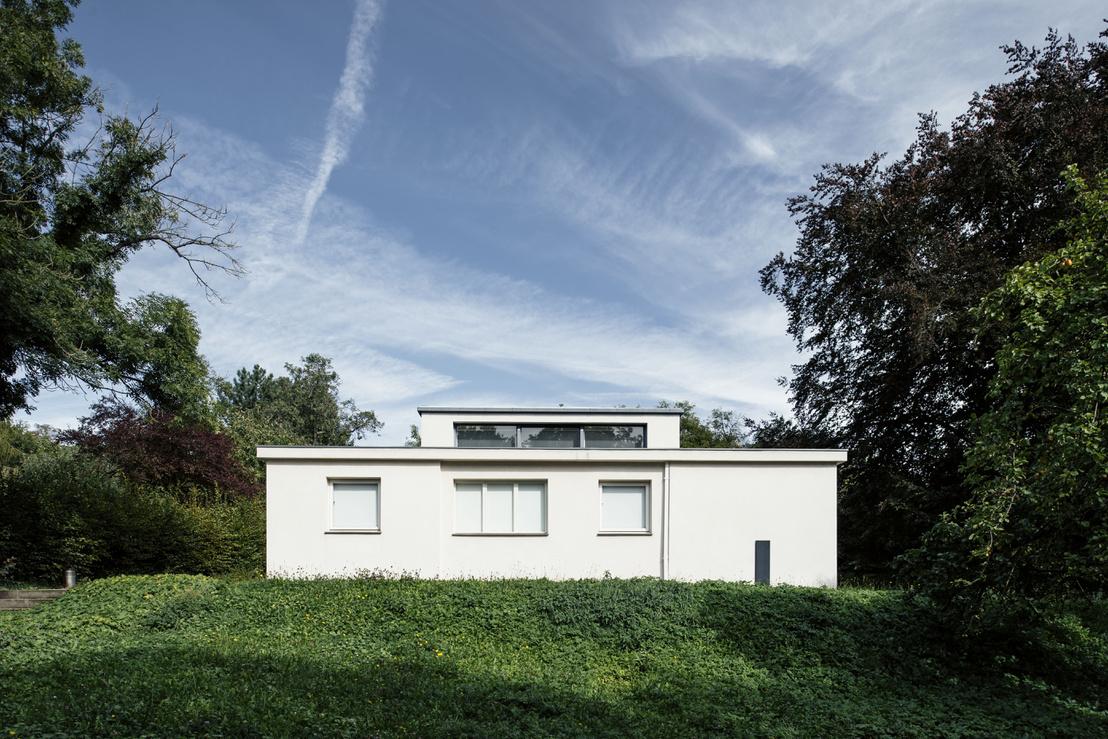 A Haus Am Horn Weimarban. A Georg Muche tervezte ház az 1923-as, egyhetes Bauhaus-kiállítás helyszíne volt