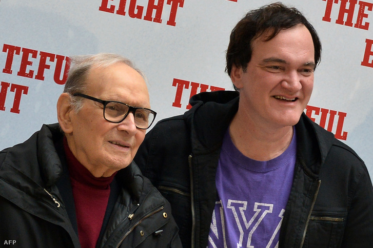 Moricone és Tarantino 2016-ban