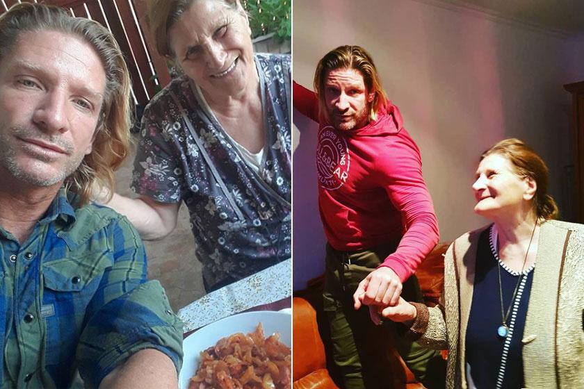 Pintér Tibor édesanyjával, Ilikével.